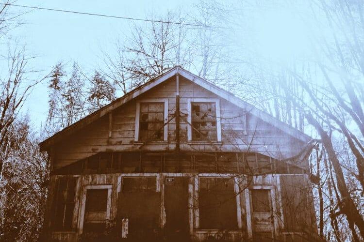 古めかしい家