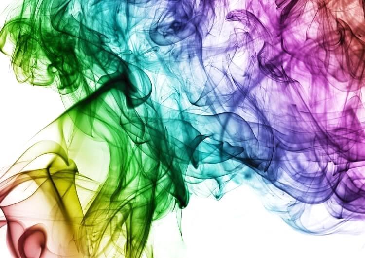 水に溶ける虹色のインク