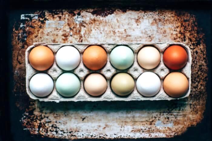 1ダースの色々な卵